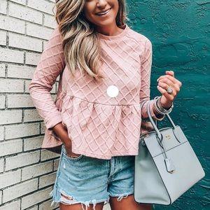 SHEIN floral peplum blouse NWOT